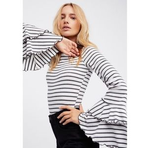 Free People | Good Find Striped Bell Sleeve Top